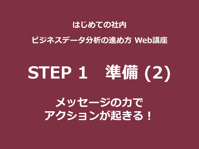 STEP 1(準備)その2|メッセージの力でアクションが起きる!
