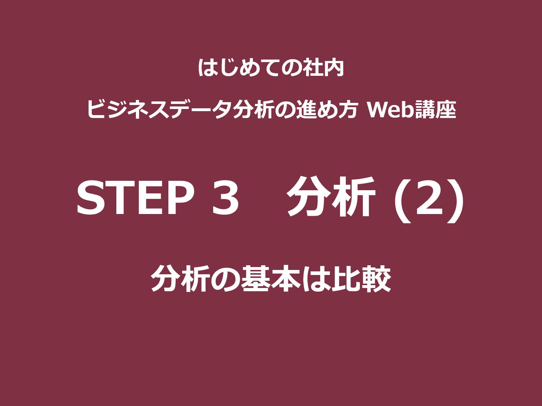 STEP 3(分析)その2|分析の基本は比較