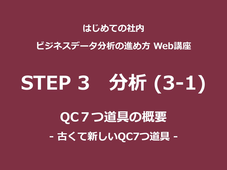 STEP 3(分析)その3-1|QC7つ道具の概要<br>– 古くて新しいQC7つ道具 –