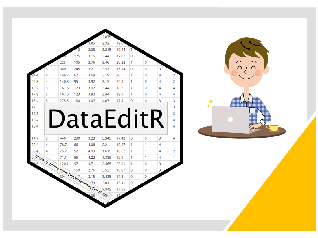 RでExcel風にインタラクティブにデータ編集するGUIパッケージ「DataEditR」