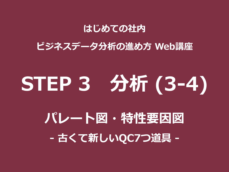 STEP 3(分析)その3-4|パレート図・特性要因図<br>– 古くて新しいQC7つ道具 –