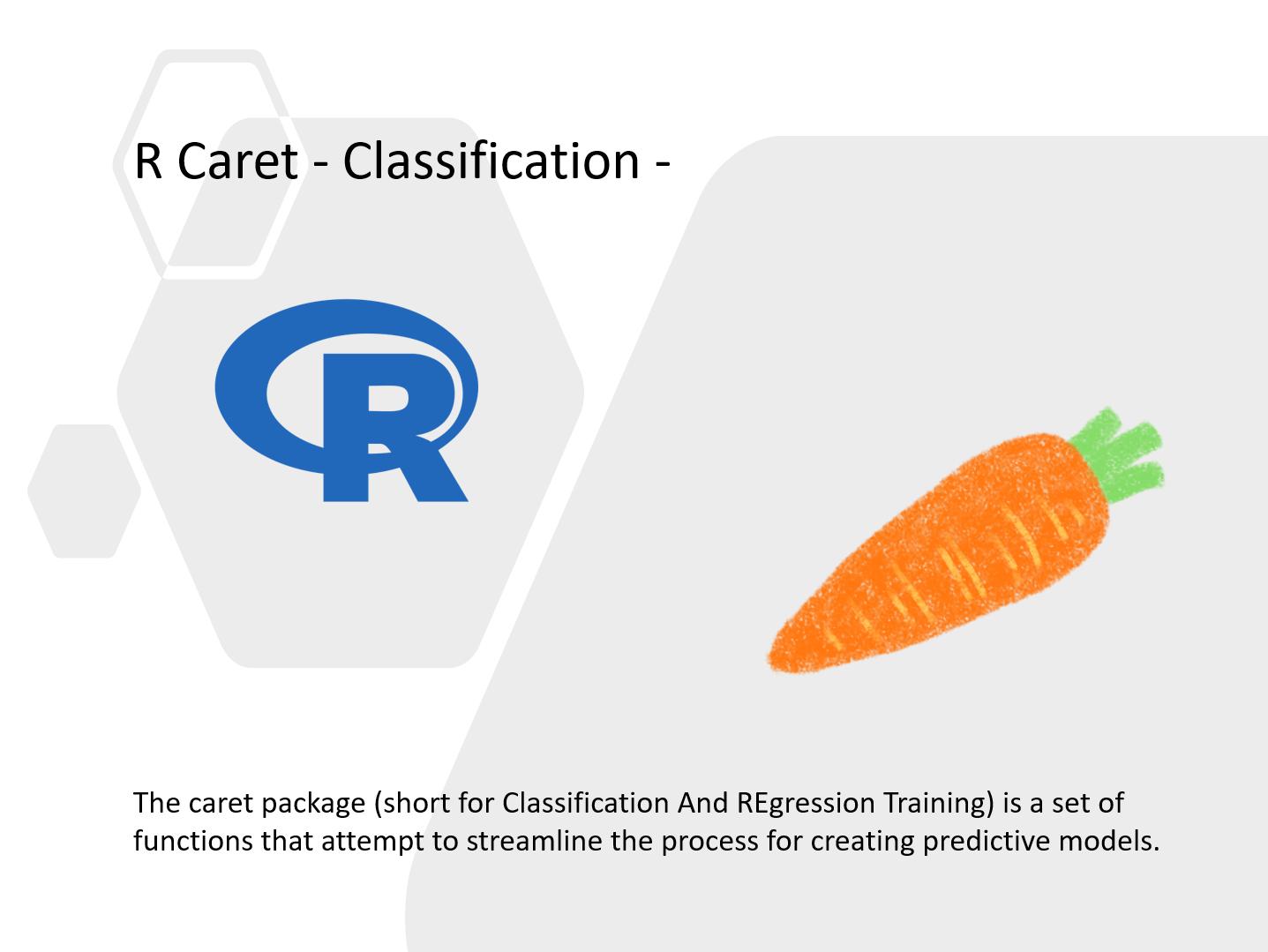 200以上のアルゴリズムを試せる<br>R Caret によるシンプル機械学習モデリング<br>その2(分類問題編)