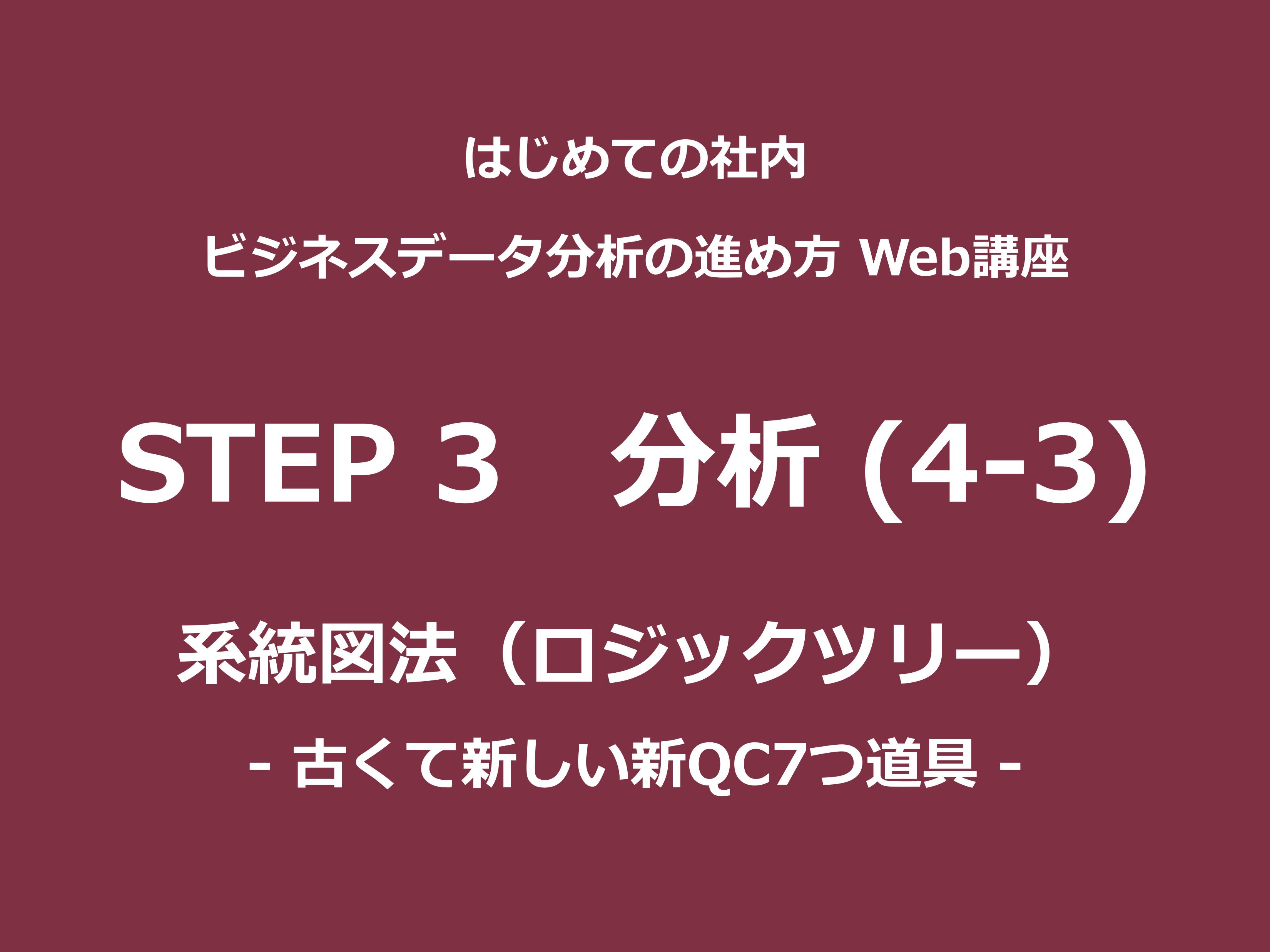STEP 3(分析)その4-3|系統図法(ロジックツリー)