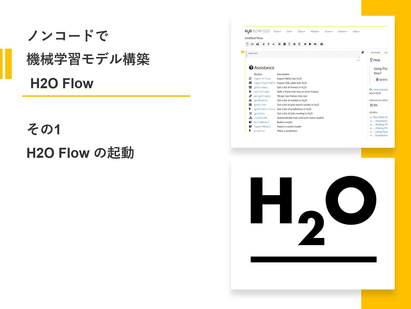 ノンコードで機械学習モデル構築 H2O Flow<br>その1(H2O Flow の起動)
