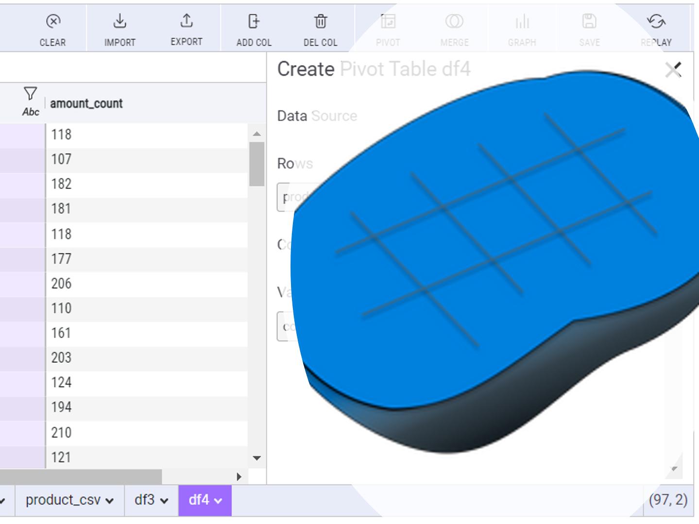 PythonのピボットテーブルをExcelのように操作する<br>Mito(その5:ピボットテーブル)
